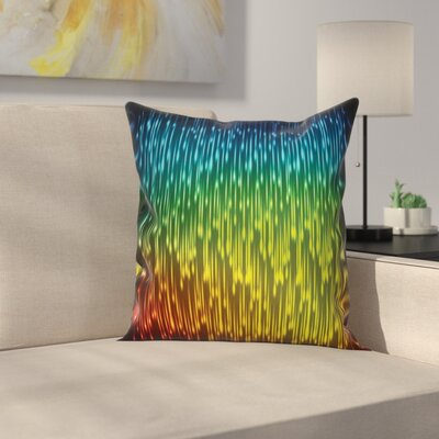 Abstract Art Galaxy Universe Square Pillow Cover Size: 18