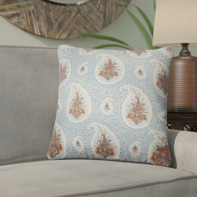 Armidale Floral Cotton Throw Pillow Color: Lapis
