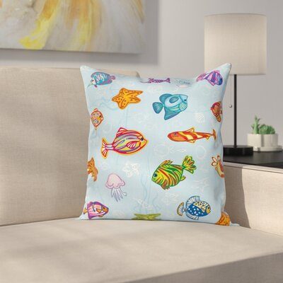Nautical Life Sea Cushion Pillow Cover Size: 18 x 18