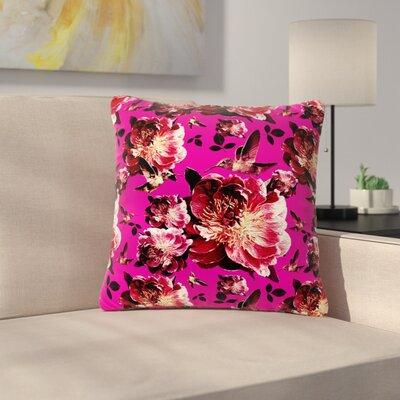 Shirlei Patricia Muniz Floral Photography Outdoor Throw Pillow Size: 16 H x 16 W x 5 D