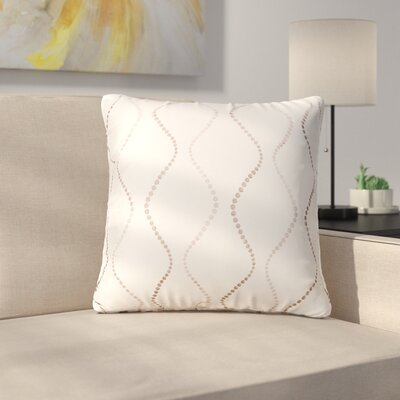 Bidwell Throw Pillow Color: Cream