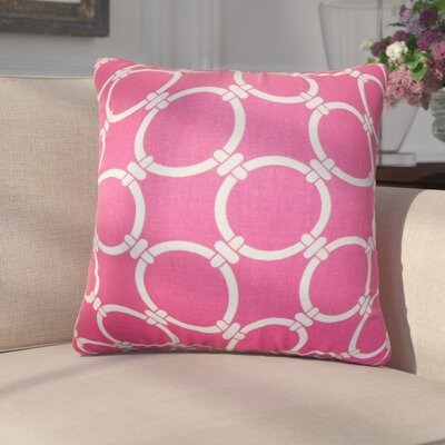 Donatella Geometric Cotton Throw Pillow Color: Pink