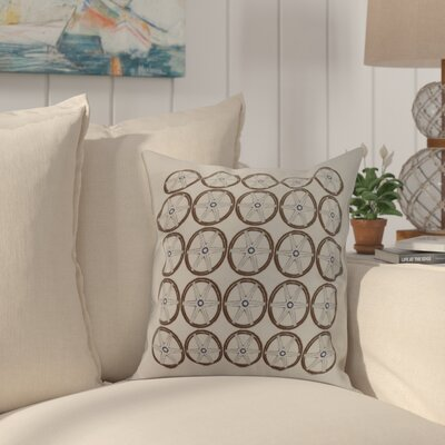 Harriet Nautical Print Throw Pillow Color: Ivory, Size: 18 x 18