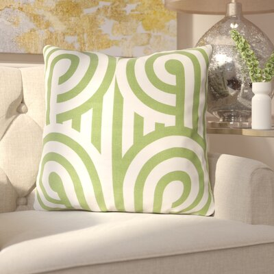 Enedina Sphere Cotton Throw Pillow Color: Green, Filler: Down