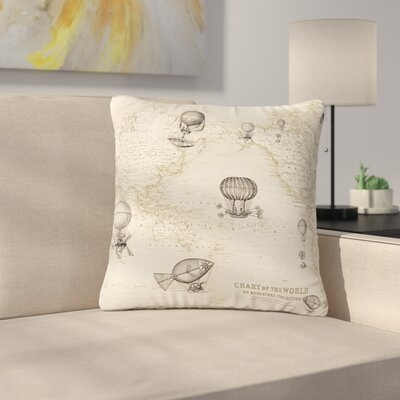 Catherine Holcombe the Southern Route Outdoor Throw Pillow Size: 18 H x 18 W x 5 D