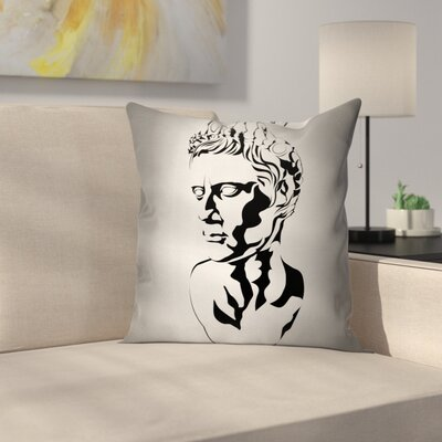 Graphic Augustus Art Square Cushion Pillow Cover Size: 16 x 16