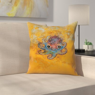Michael Creese Baby Octopus Throw Pillow Size: 16 x 16