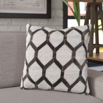 Rexburg Geometric Throw Pillow Color: Black