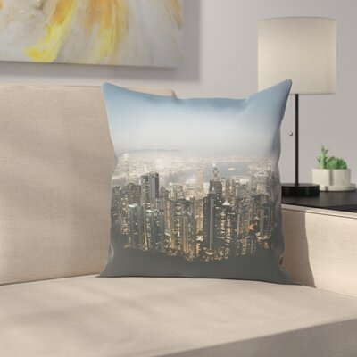 Luke Gram Victoria Peak Hong Kong Throw Pillow Size: 18 x 18