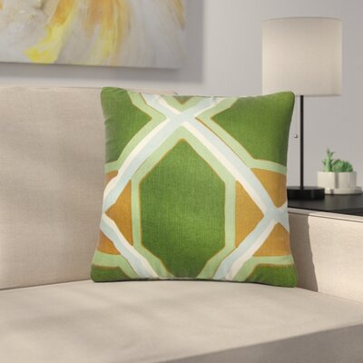 Bullis Geometric Cotton Throw Pillow Color: Malachite, Size: 18 x 18