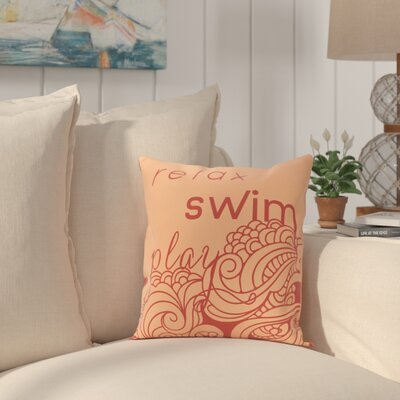 Grand Ridge Mellow Mantra Word Throw Pillow Size: 16 H x 16 W, Color: Peach