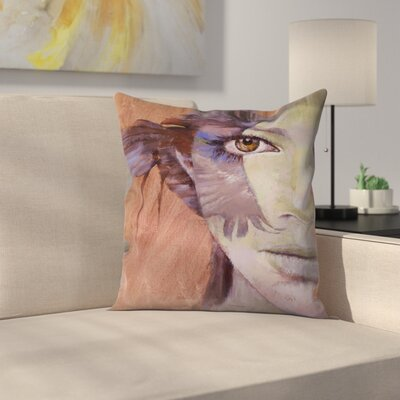 Michael Creese Huntress Throw Pillow Size: 18 x 18