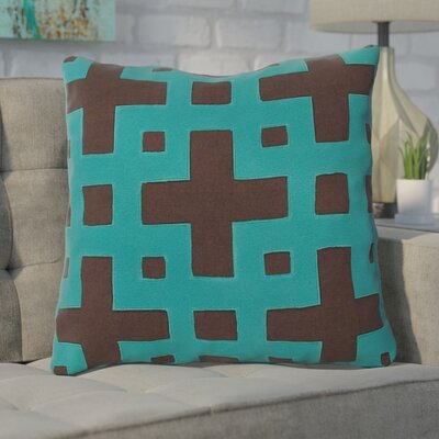 Cleanthes Cotton Throw Pillow Color: Chocolate / Green