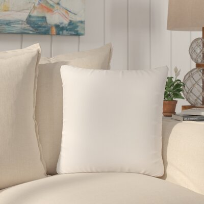 Dugan Soft Suede Throw Pillows Color: White