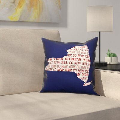 New York Go Team Throw Pillow Color: Blue