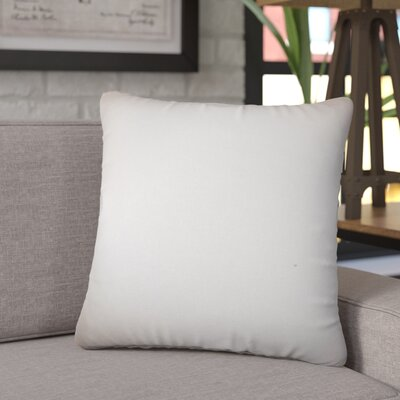 Chevy Solid Cotton Throw Pillow Color: Gray