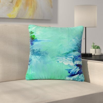 Ebi Emporium Winter Dreamland Outdoor Throw Pillow Size: 18 H x 18 W x 5 D, Color: Green/Blue