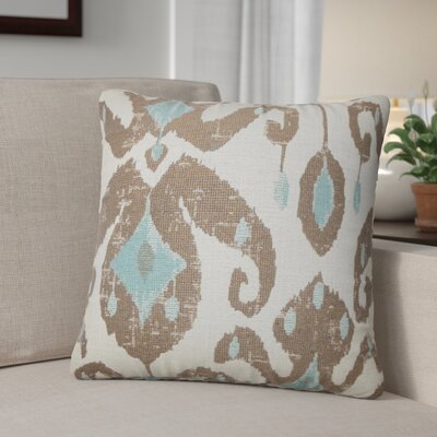 Tashani Ikat Throw Pillow Color: Cocoa