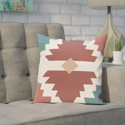 Avian Geometric Print Throw Pillow Size: 18 H x 18 W, Color: Orange