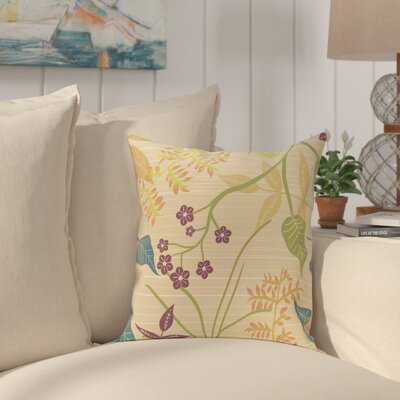Connelly Botanical Throw Pillow Size: 26 H x 26 W, Color: Gold
