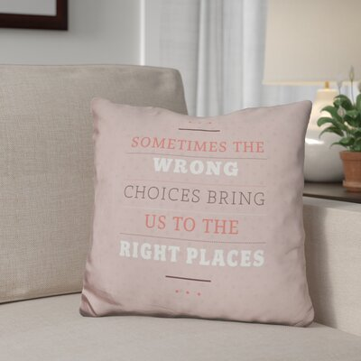 Giese Right Places Throw Pillow