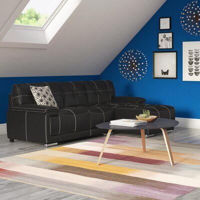 Auriga Classic Sectional Upholstery: Black