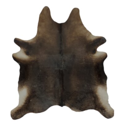 One-of-a-Kind Colby Hand-Woven Cowhide Chocolate Area Rug