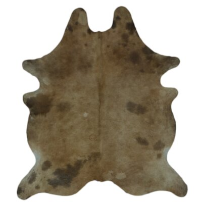 One-of-a-Kind Coyne Hand-Woven Cowhide Brown Area Rug