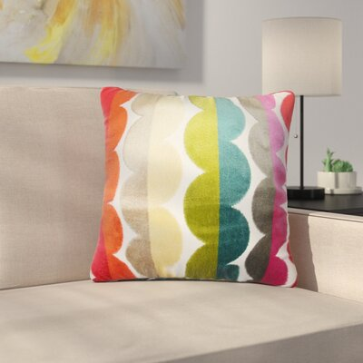 Pinkard Geometric Throw Pillow Color: Red