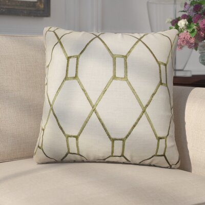 Marcello Geometric Cotton Throw Pillow Color: Green