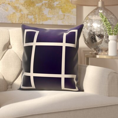 Harford Geometric Outdoor Throw pillow Color: Navy, Size: 18 H x 18 W x 1 D