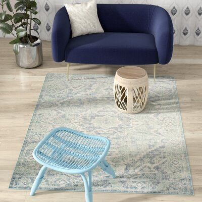 Chauncey Seafoam / Blue Area Rug Rug Size: Rectangle 3 x 12