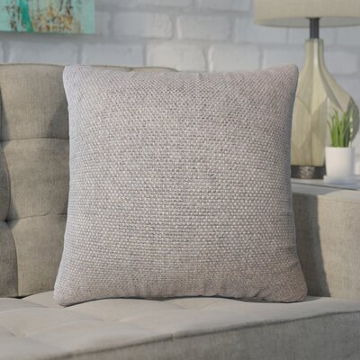 Chapple Solid Throw Pillow Color: Brown