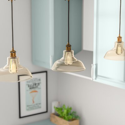 Fabian Pyramid Shade 1-Light Mini Pendant Size: Large