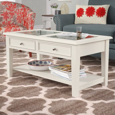 Godbey Amberly Coffee Table Color: Ivory