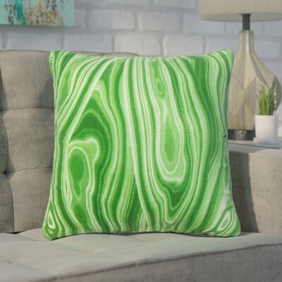 Boyer Geometric Cotton Throw Pillow Color: Malachite, Size: 22 x 22