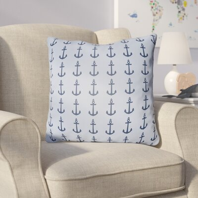 Collie Anchor Throw Pillow Size: 18 H x 18 W x 4 D, Color: Light Blue