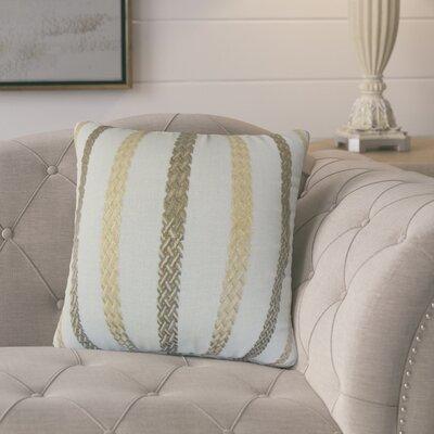 Melanie Stripe Throw Pillow Color: Sea Glass, Size: 18 x 18