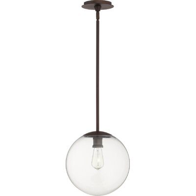 Doster 1-Light Globe Pendant Finish: Oiled Bronze, Size: 12 H x 12 W x 5 D