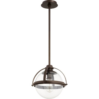 Doucet Meridian 1-Light Globe Pendant Finish: Oiled Bronze, Size: 12 H x 12.5 W x 5 D