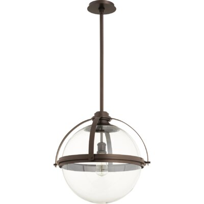 Doucet Meridian 1-Light Globe Pendant Finish: Oiled Bronze, Size: 20 H x 19.5 W x 5 D