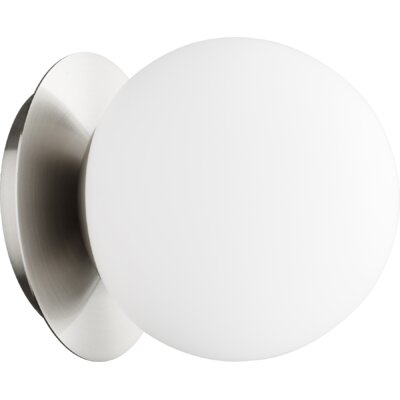Cass Globe 1-Light Semi Flush Mount Fixture Finish: Satin Nickel