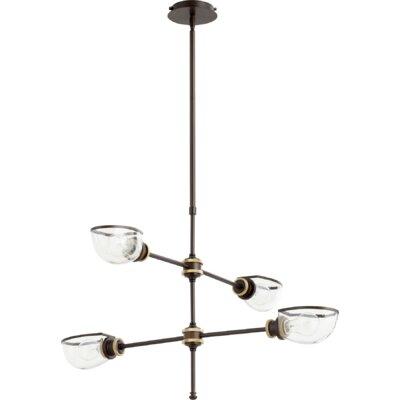 Digiovanni 4-Light Sputnik Chandelier Finish: Aged Brass Oiled Bronze