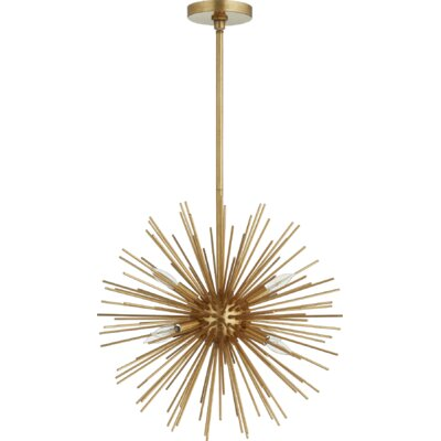 Kovac 6-Light Sputnik Chandelier Finish: Gold Leaf