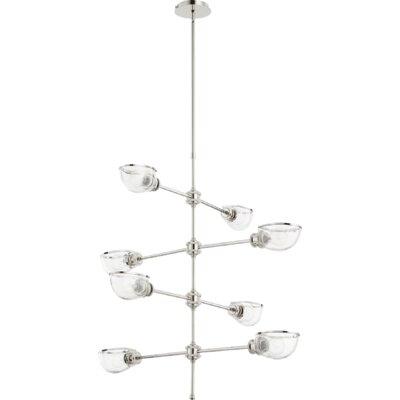 Digiovanni 8-Light Sputnik Chandelier Finish: Polished Nickel