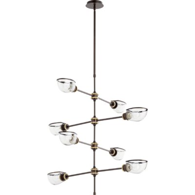 Digiovanni 8-Light Sputnik Chandelier Finish: Aged Brass Oiled Bronze