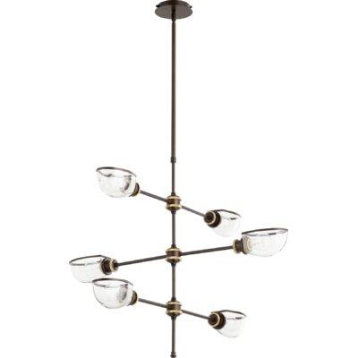 Digiovanni 6-Light Sputnik Chandelier Finish: Aged Brass Oiled Bronze
