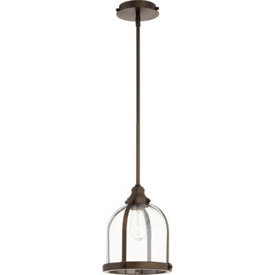 Doucette Banded Dome 1-Light Lantern Pendant Finish: Oiled Bronze