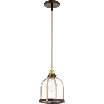Doucette Banded Dome 1-Light Lantern Pendant Finish: Aged Brass/Oiled Bronze