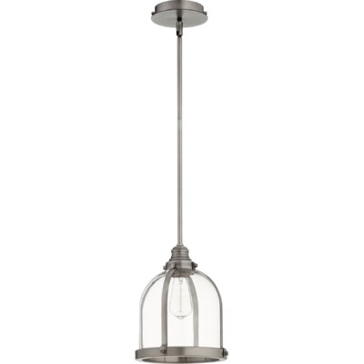 Doucette Banded Dome 1-Light Lantern Pendant Finish: Antique Silver